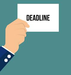 Man showing paper deadline text vector