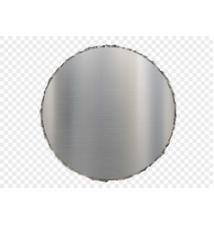 metal plate with ragged edges vector image
