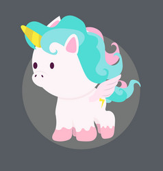 mini cute unicorn vector image