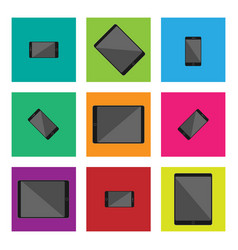 Modern technology device flat design drawing vector