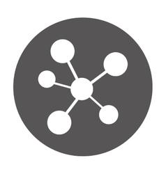 Molecule laboratory isolated icon vector