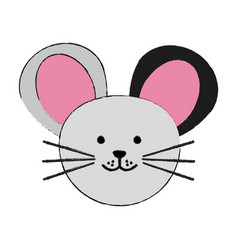 Mouse or stuffed cute animal icon image vector