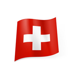 national flag of switzerland white cross in vector image