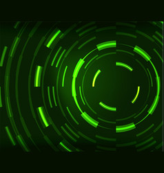 neon circles abstract background vector image