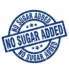No sugar added blue round grunge stamp vector