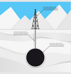 Oil tower production vector