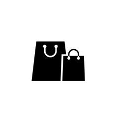 paper shopping bags flat icon vector image