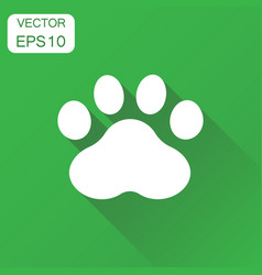 Paw print icon business concept dog or cat vector