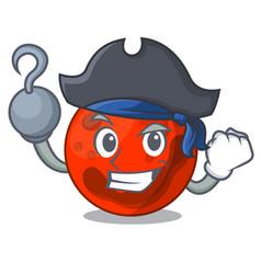 Pirate mars planet character cartoon vector