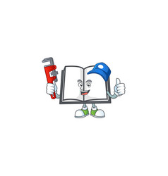 Plumber open book on a white background vector