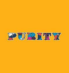 purity concept word art vector image