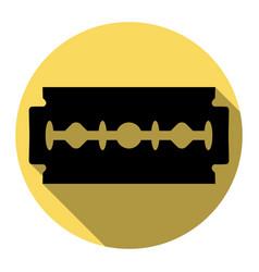 razor blade sign flat black icon with vector image