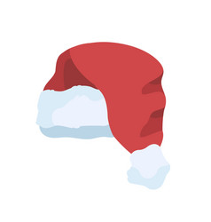 santa hat red plush hat with vector image