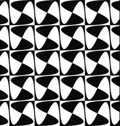 Seamless monochrome curved shape pattern design vector