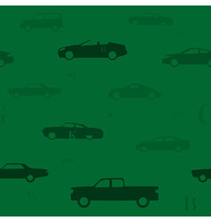 seamless vintage cars vector image