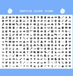 Service glyph icons big set car technical vector