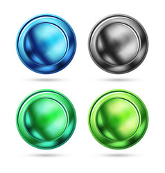 Set of blank matte glass glossy sphere circles vector