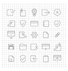 Set of linear universal icons vector
