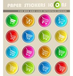 Shopping cart icon set vector