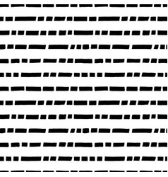 short horizontal lines hand drawn seamless pattern vector image