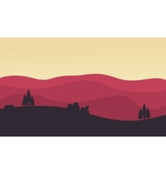 Silhouette of hill landscape vector