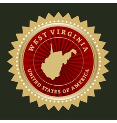 Star label West Virginia vector