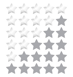 star rating with silver stars vector image