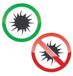 Starburst permission signs set vector