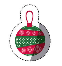 Sticker cartoon garland christmas decoratives vector