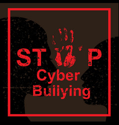 Stop cyber bullying concept vector