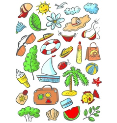 summer object vector image