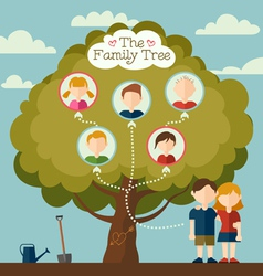 The Family tree vector image