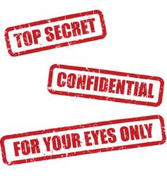 Top secret stamps vector