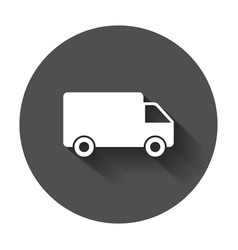 truck car fast delivery service shipping icon vector image