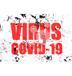 Virus covid-19 words on abstract background vector