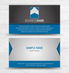 creative business cards set template vector image vector image