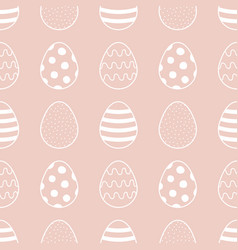 easter eggs seamless pattern background vector image