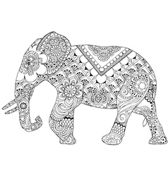 elephant with Indian patterns vector image vector image