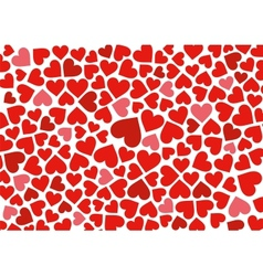 Red hearts background on white vector image