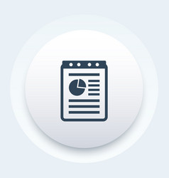 report document record icon vector image