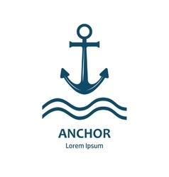 Sea anchor logo vector image vector image