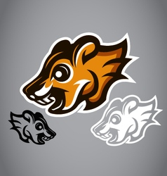 Wild Squirrel head brown logo 2902 vector image vector image