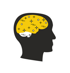 Brain thought concept vector