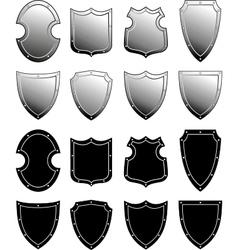 metal heraldic shield set vector image vector image