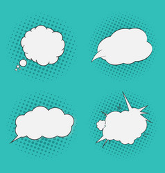 thoughts bubbles set pop art comics style vector image