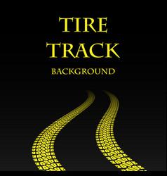 yellow warp tire track vector image