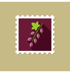 Currant flat stamp with long shadow vector image vector image