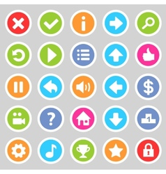 Flat game icons 8 vector image
