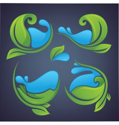 leaves and water vector image vector image