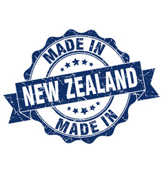 Made in new zealand round seal vector